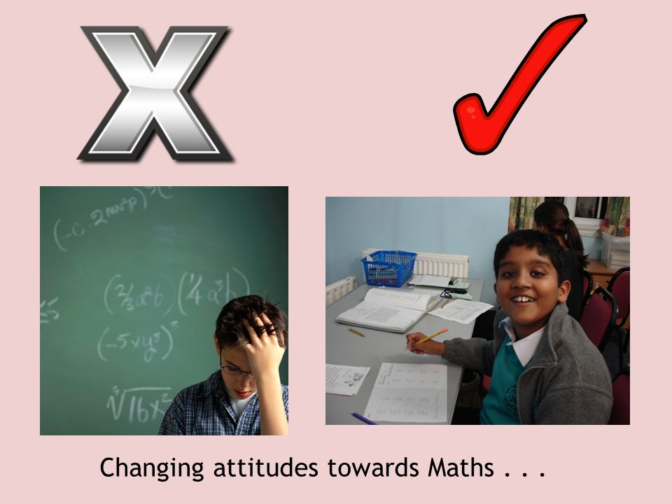 Changing attitudes towards Maths . . .