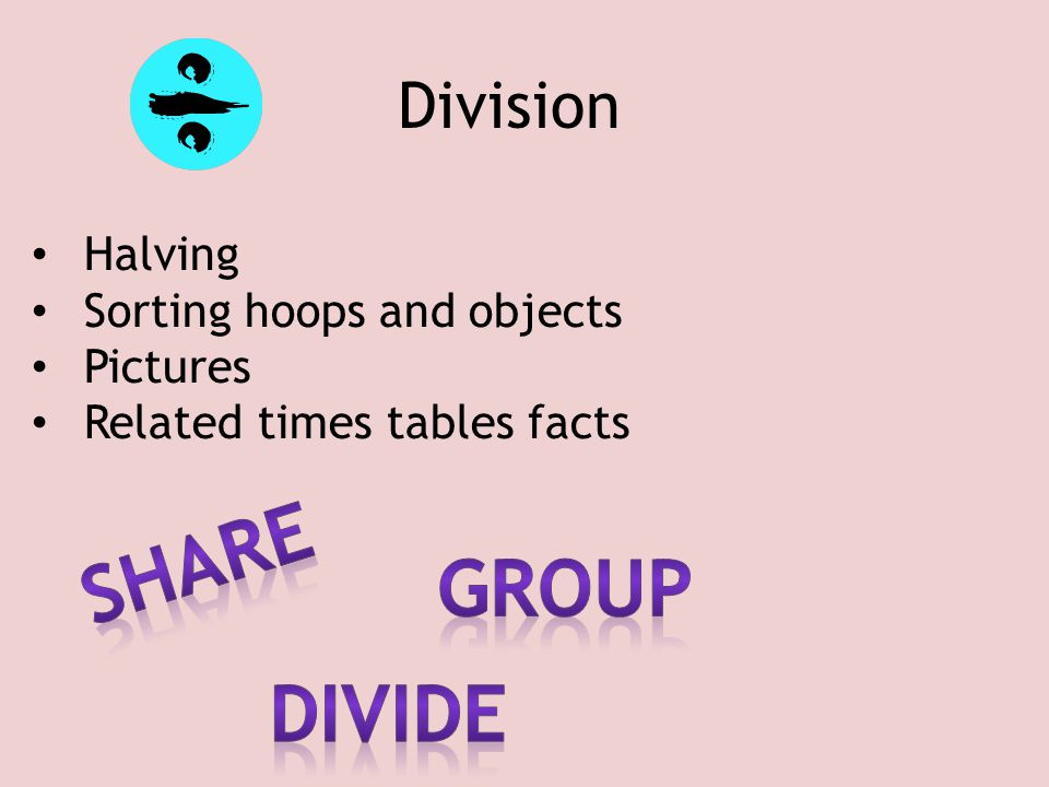 share Group divide Division Halving Sorting hoops and objects Pictures