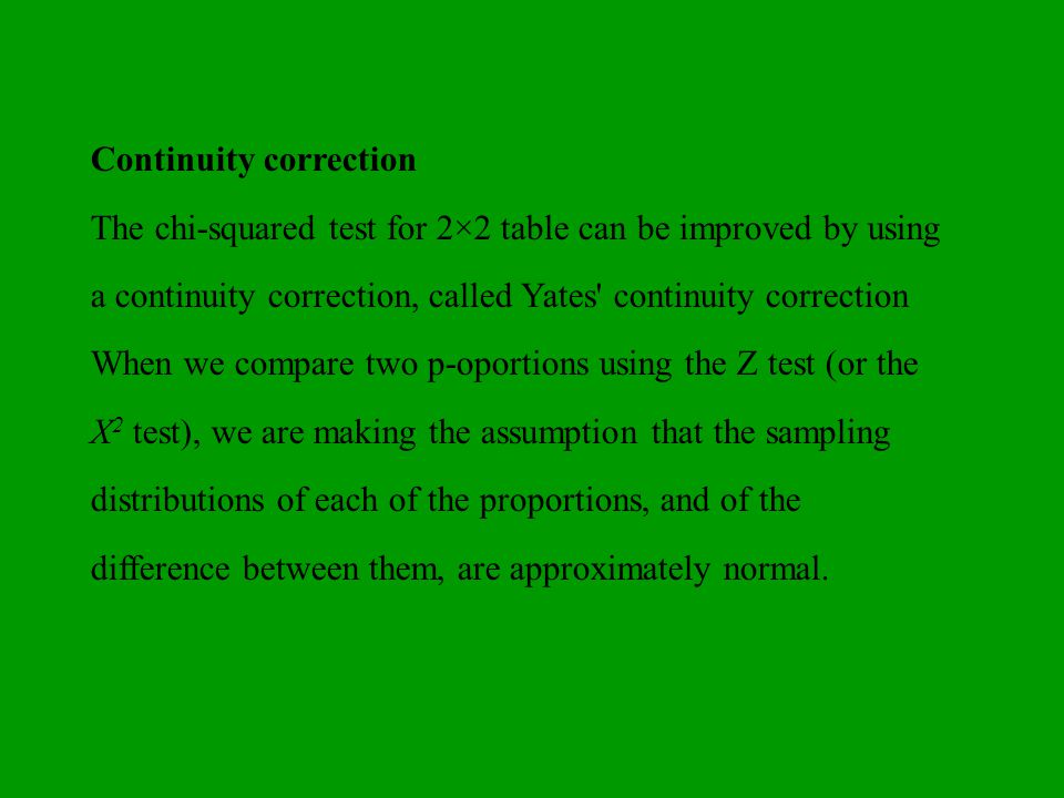 Continuity correction
