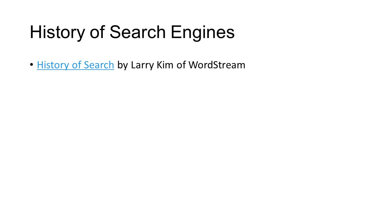 History of Search Engines