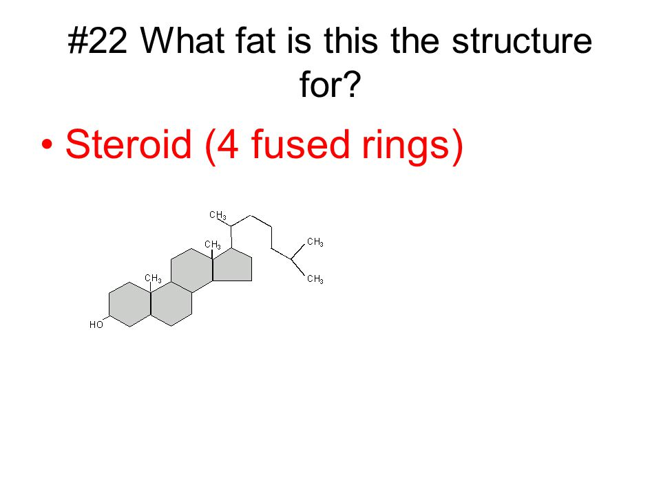 #22 What fat is this the structure for
