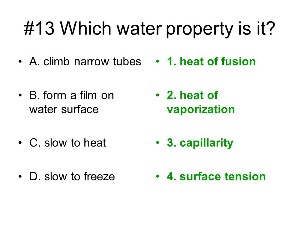 #13 Which water property is it