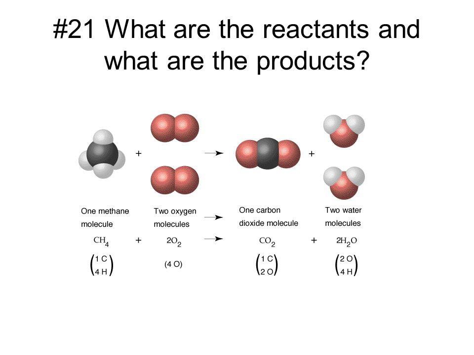 #21 What are the reactants and what are the products