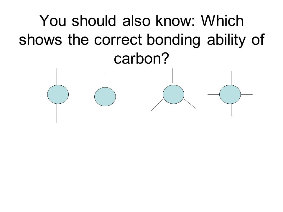 You should also know: Which shows the correct bonding ability of carbon