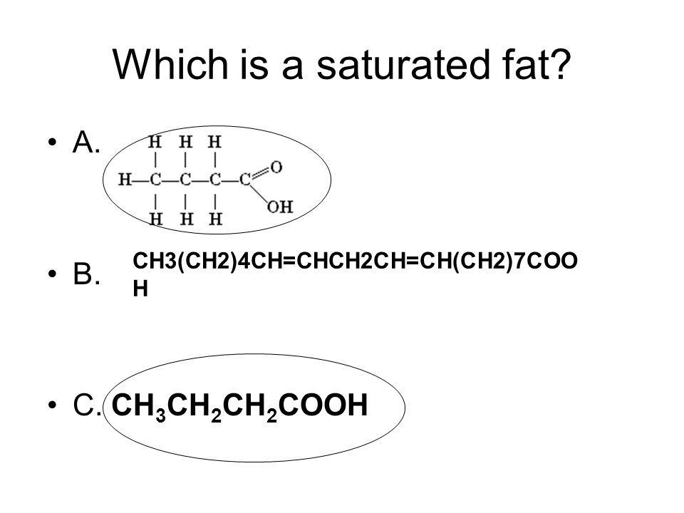 Which is a saturated fat