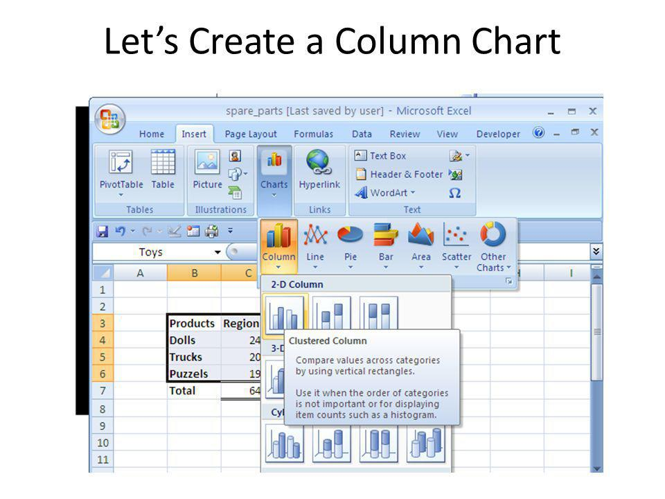 Let's Create a Column Chart