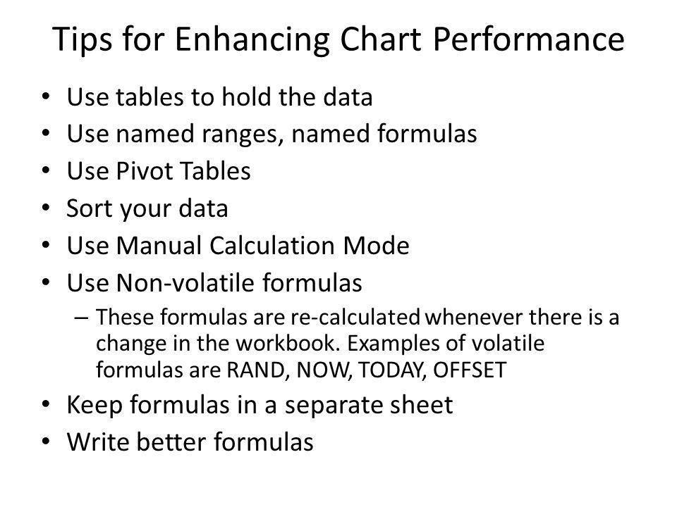 Tips for Enhancing Chart Performance