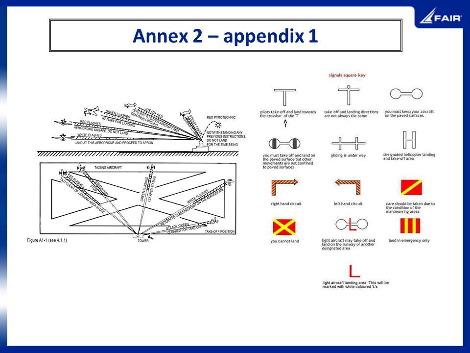 Annex 2 – appendix 1