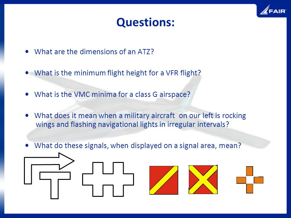 Questions: • What are the dimensions of an ATZ