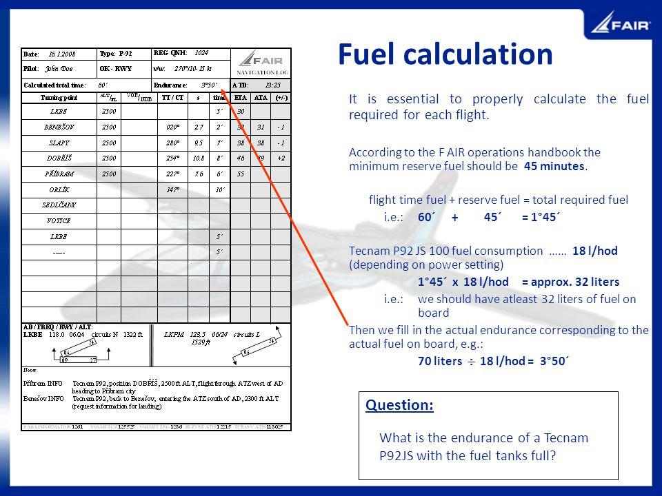 Fuel calculation Question:
