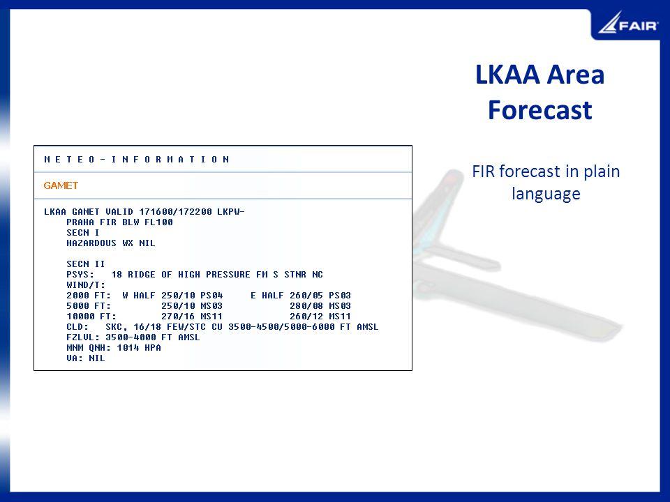 FIR forecast in plain language