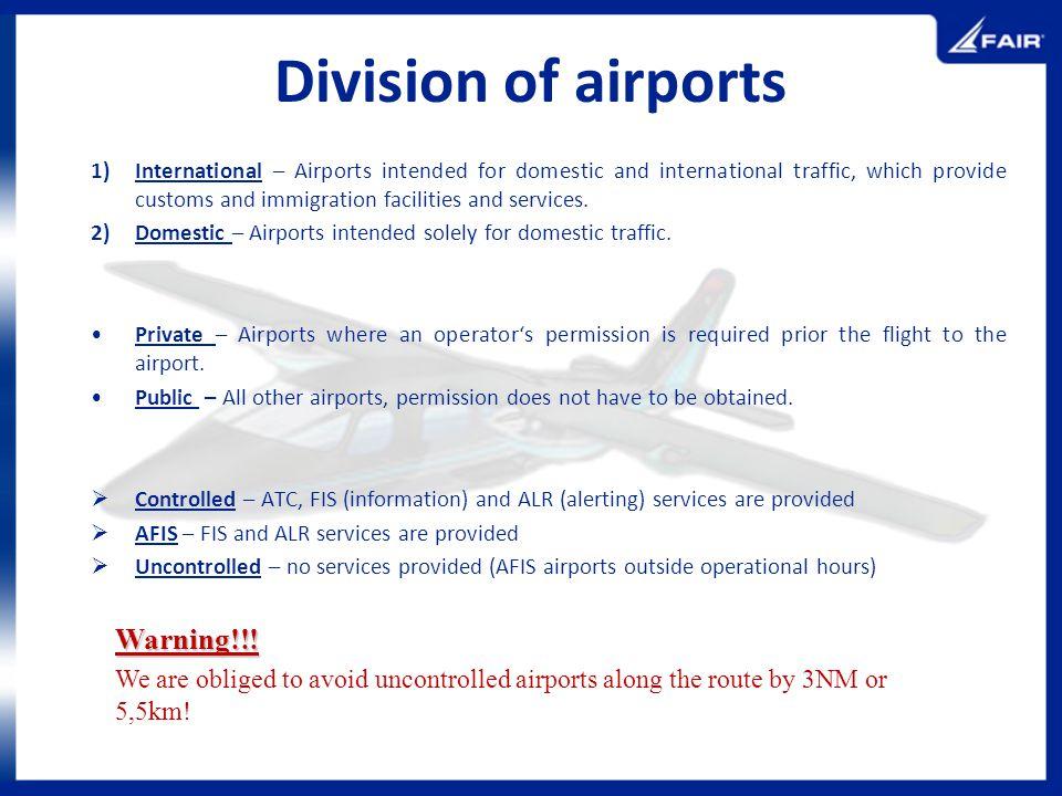 Division of airports Warning!!!