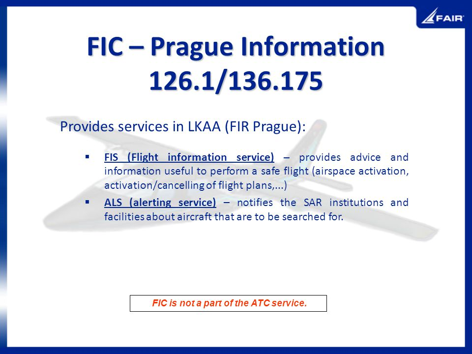FIC – Prague Information 126.1/136.175
