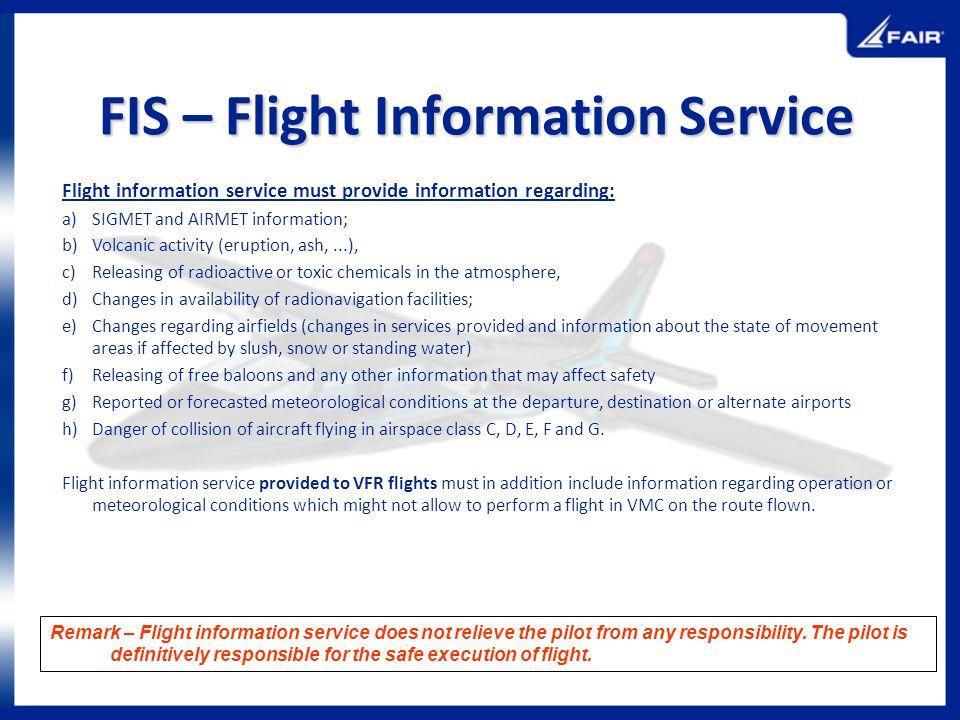 FIS – Flight Information Service