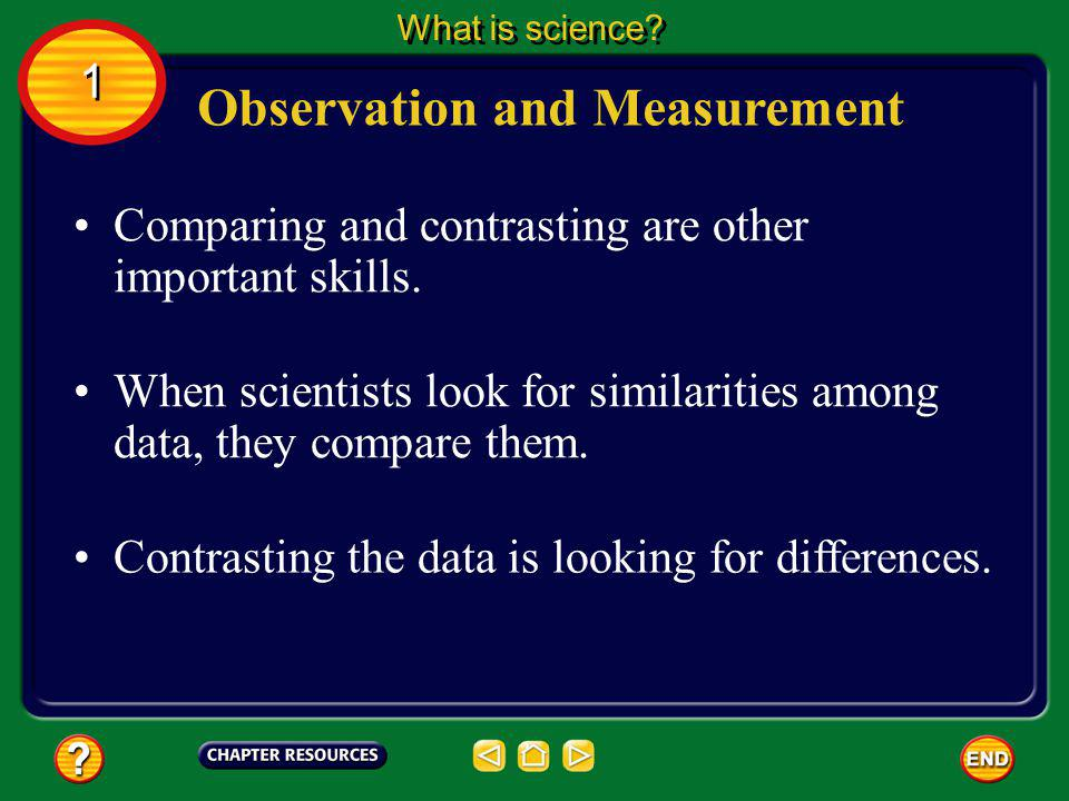 Observation and Measurement