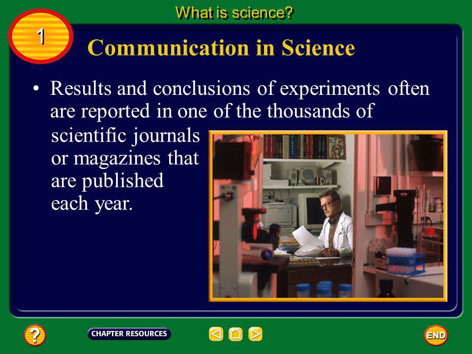 Communication in Science