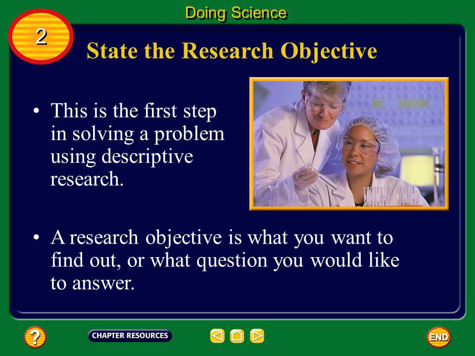 State the Research Objective