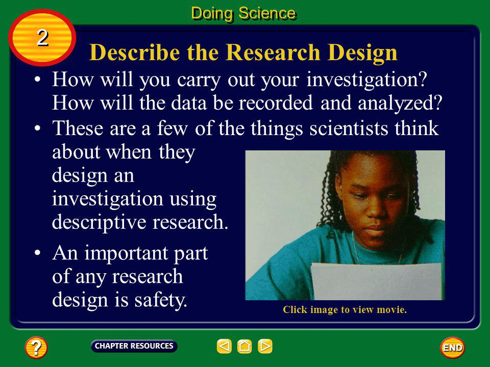 Describe the Research Design