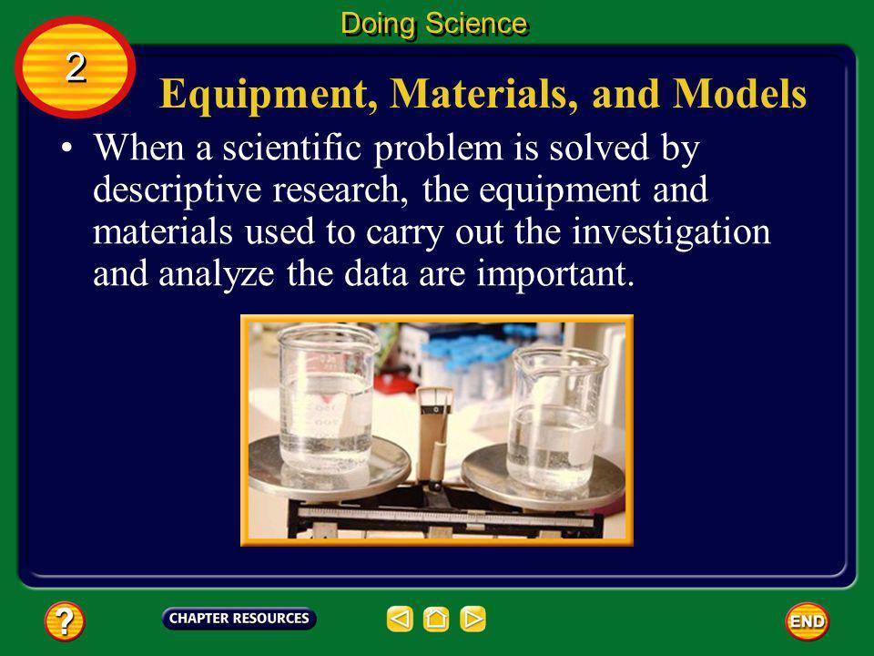Equipment, Materials, and Models