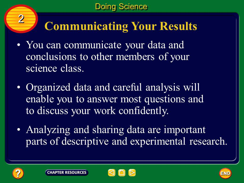 Communicating Your Results