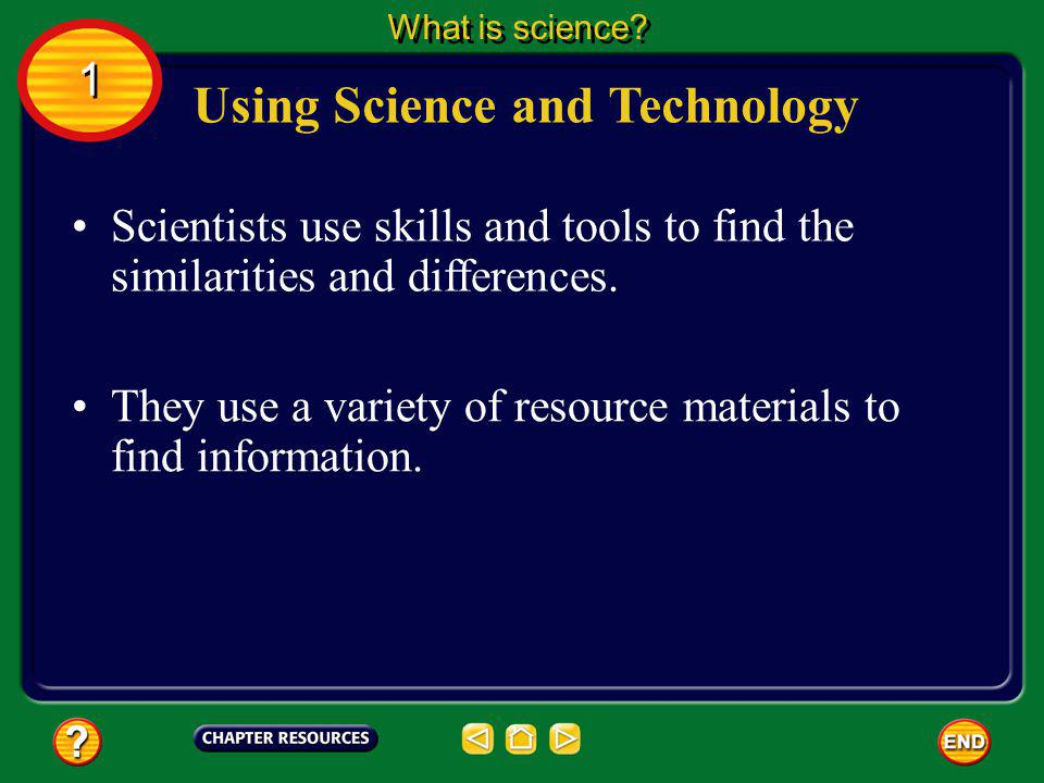 Using Science and Technology