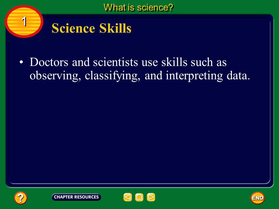 What is science. 1. Science Skills.