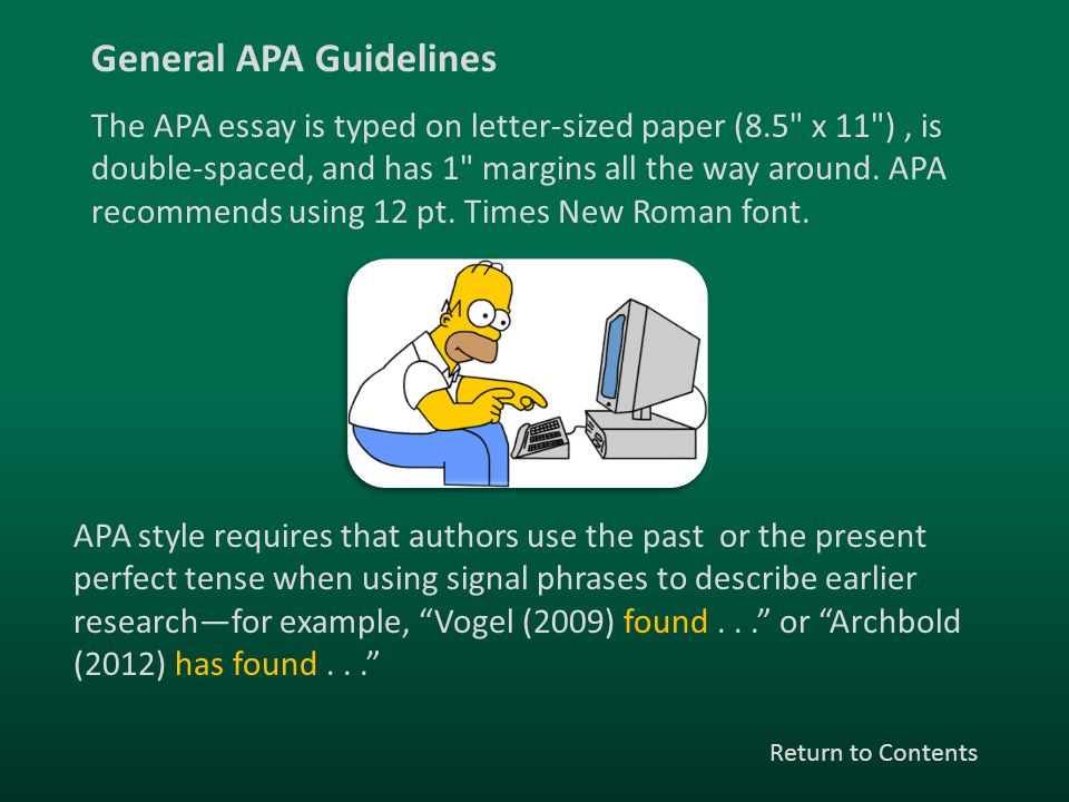 General APA Guidelines