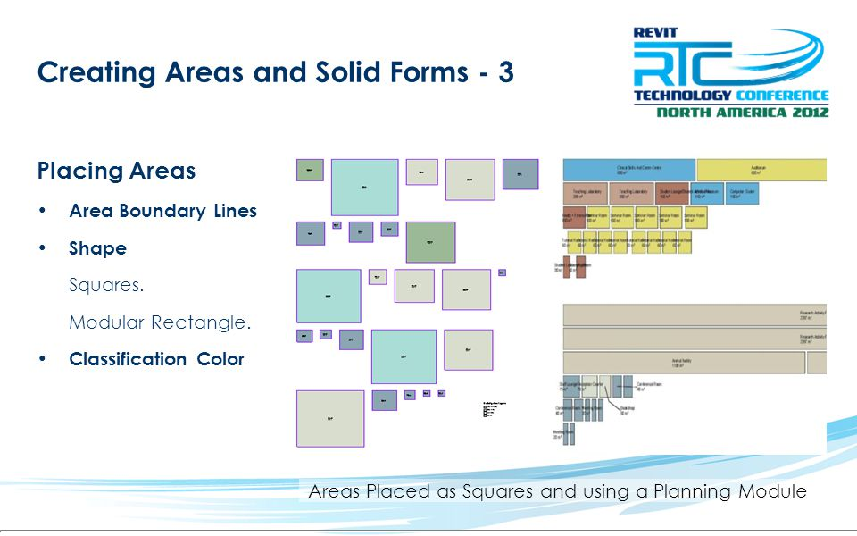 Areas Placed as Squares and using a Planning Module