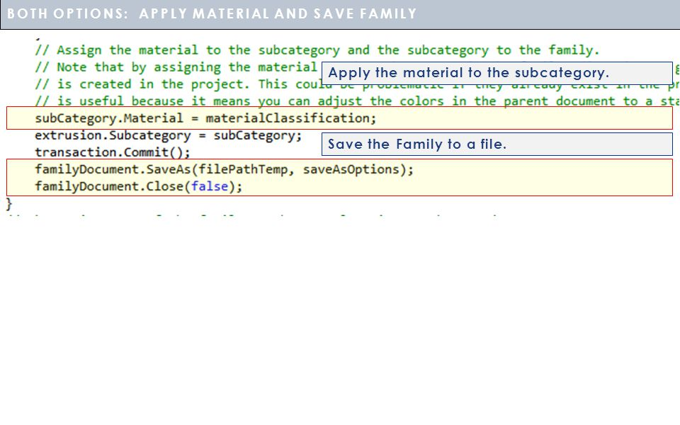 BOTH OPTIONS: APPLY MATERIAL AND SAVE FAMILY