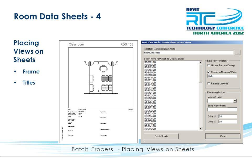 Batch Process - Placing Views on Sheets