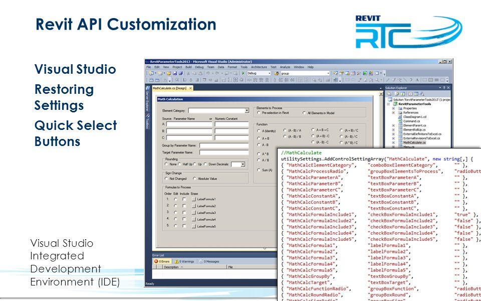 Revit API Customization