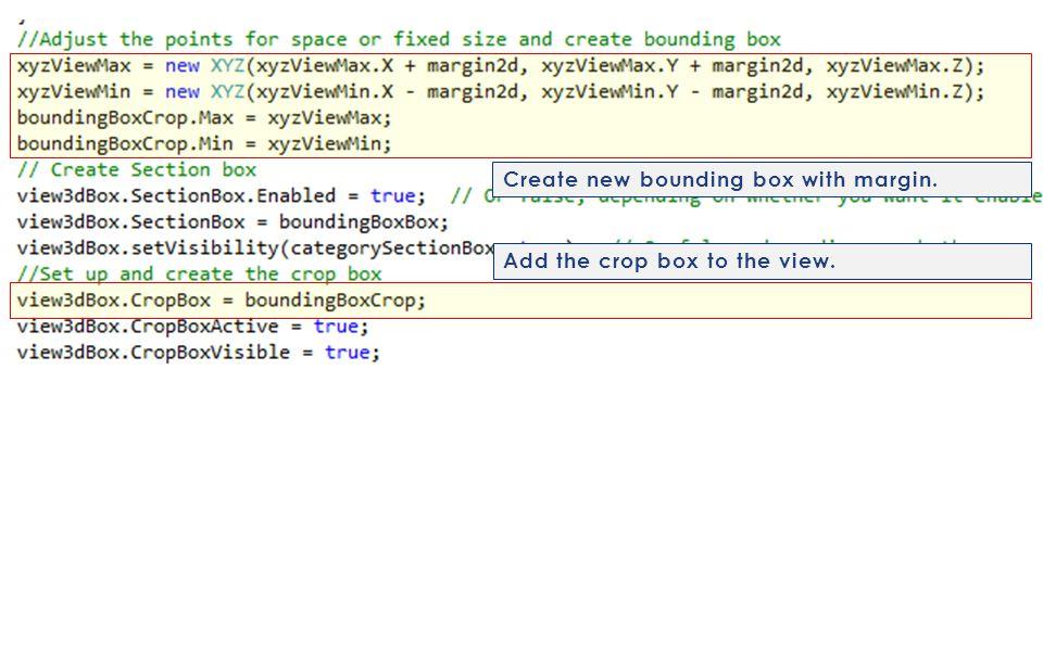 Create new bounding box with margin.