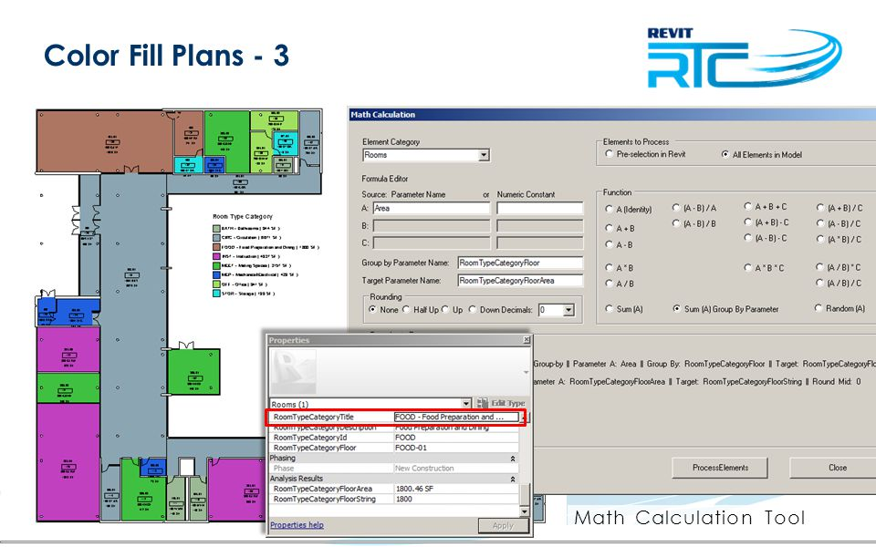 Color Fill Plans - 3 Math Calculation Tool