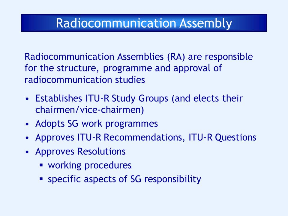 Radiocommunication Assembly