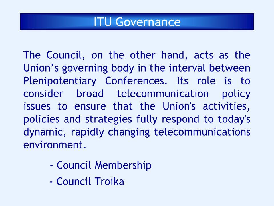 ITU Governance
