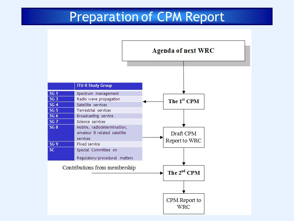 Preparation of CPM Report
