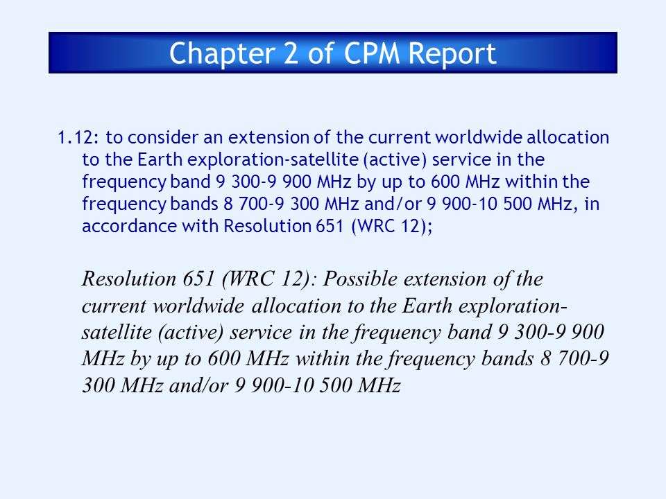 Chapter 2 of CPM Report