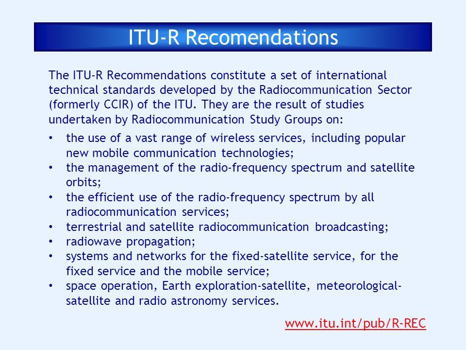 ITU-R Recomendations www.itu.int/pub/R-REC