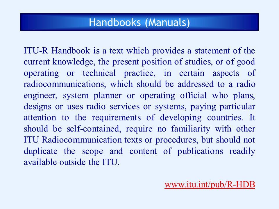 Handbooks (Manuals)