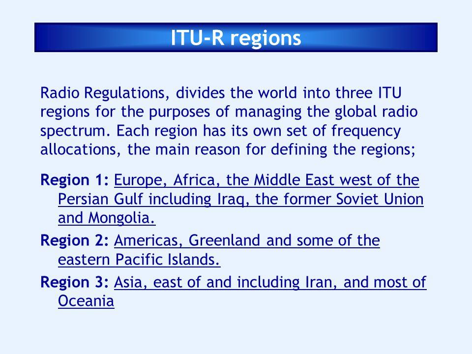 ITU-R regions