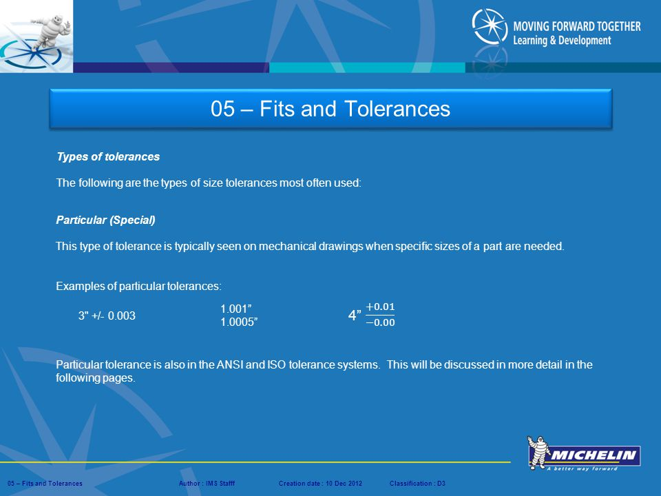 types of fits and tolerances pdf