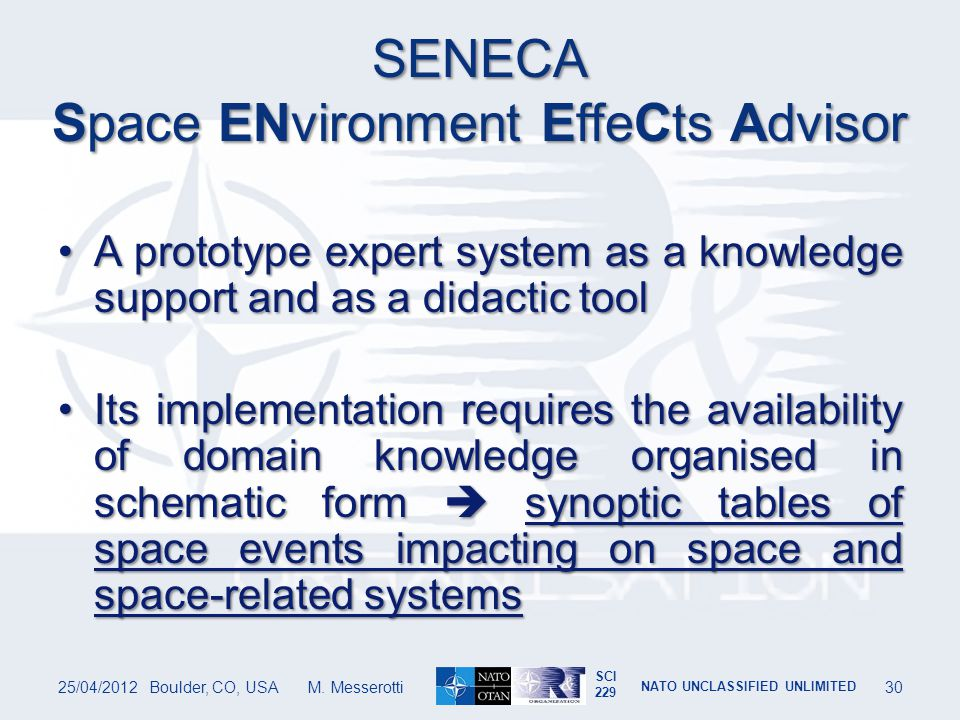 SENECA Space ENvironment EffeCts Advisor