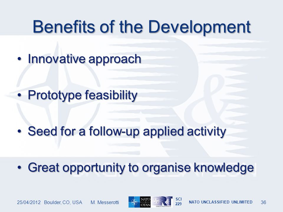 Benefits of the Development
