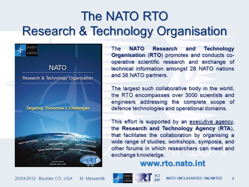 The NATO RTO Research & Technology Organisation