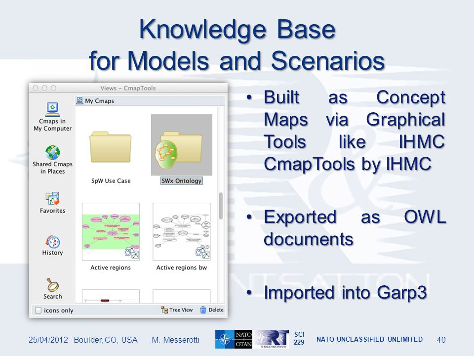 Knowledge Base for Models and Scenarios