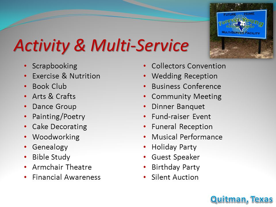 Activity & Multi-Service