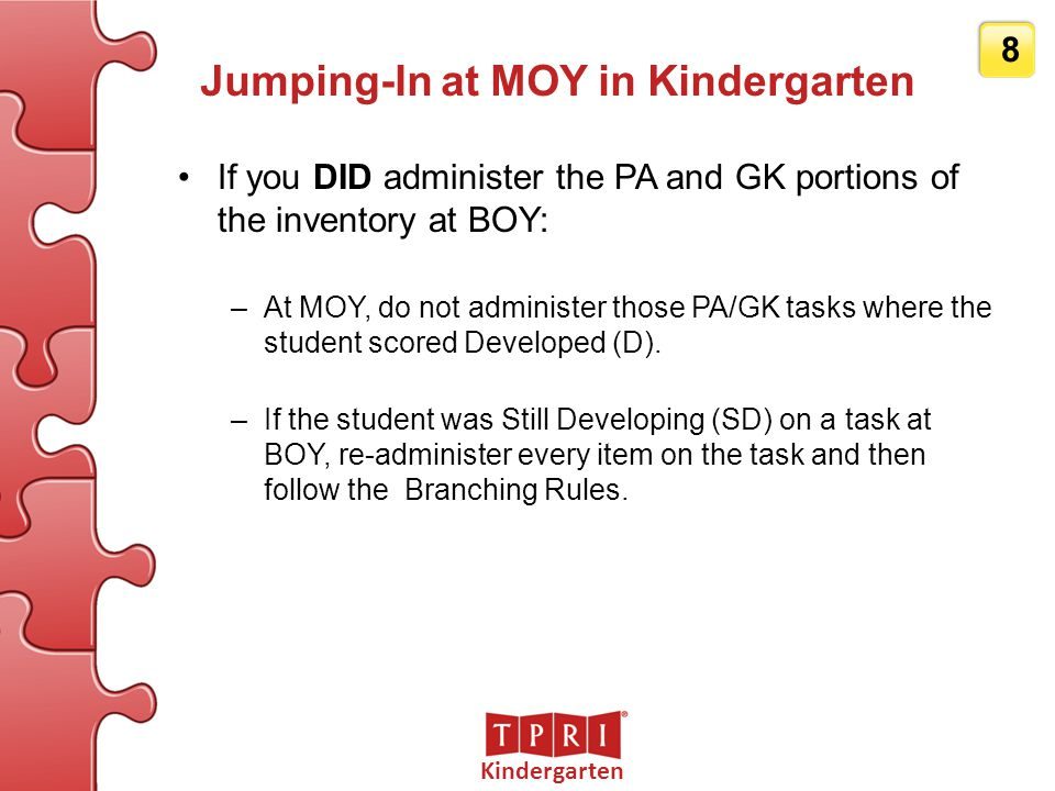 Jumping-In at MOY in Kindergarten