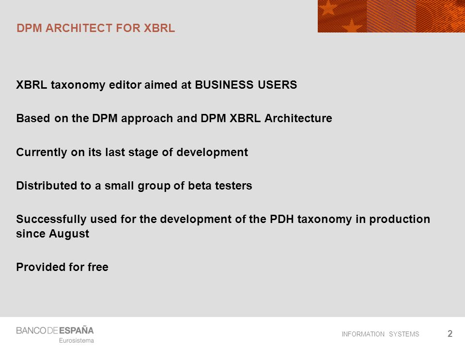 DPM ARCHITECT FOR XBRL