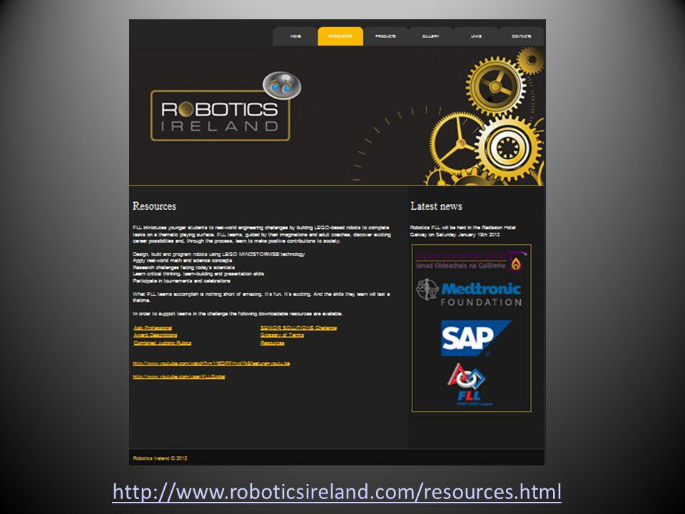 http://www.roboticsireland.com/resources.html
