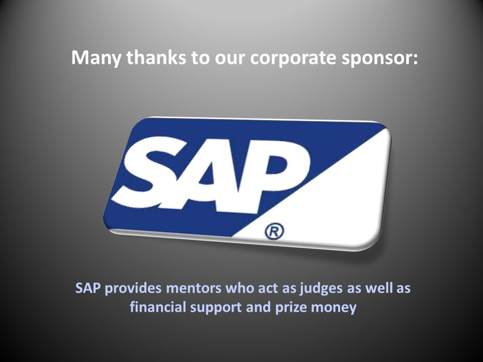 Many thanks to our corporate sponsor: